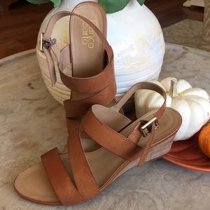 Franco Sarto leather wedge sandals
